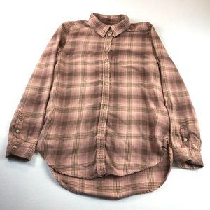 American Eagle Outfitters Ahh-Mazingly Soft Flannel Top Size S Boyfriend Fit